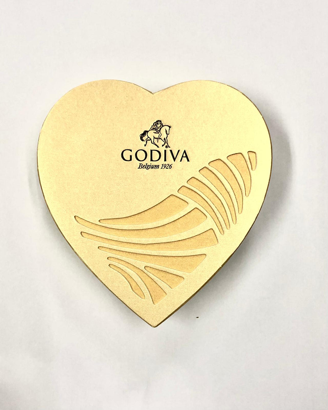 HEART SHAPED GOLD GODIVA (6PC) CHOCOLATES