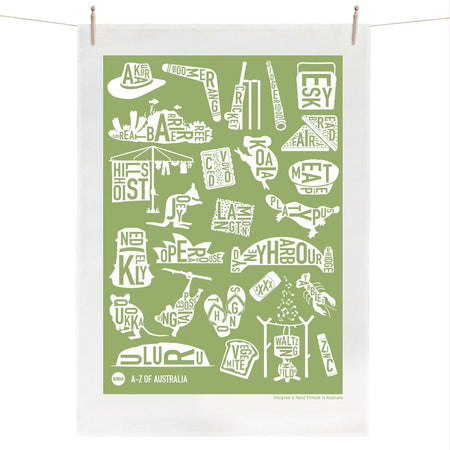 Tea Towel A-Z of Australia
