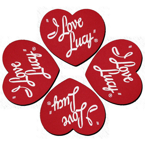 I Love Lucy Logo Coaster Set