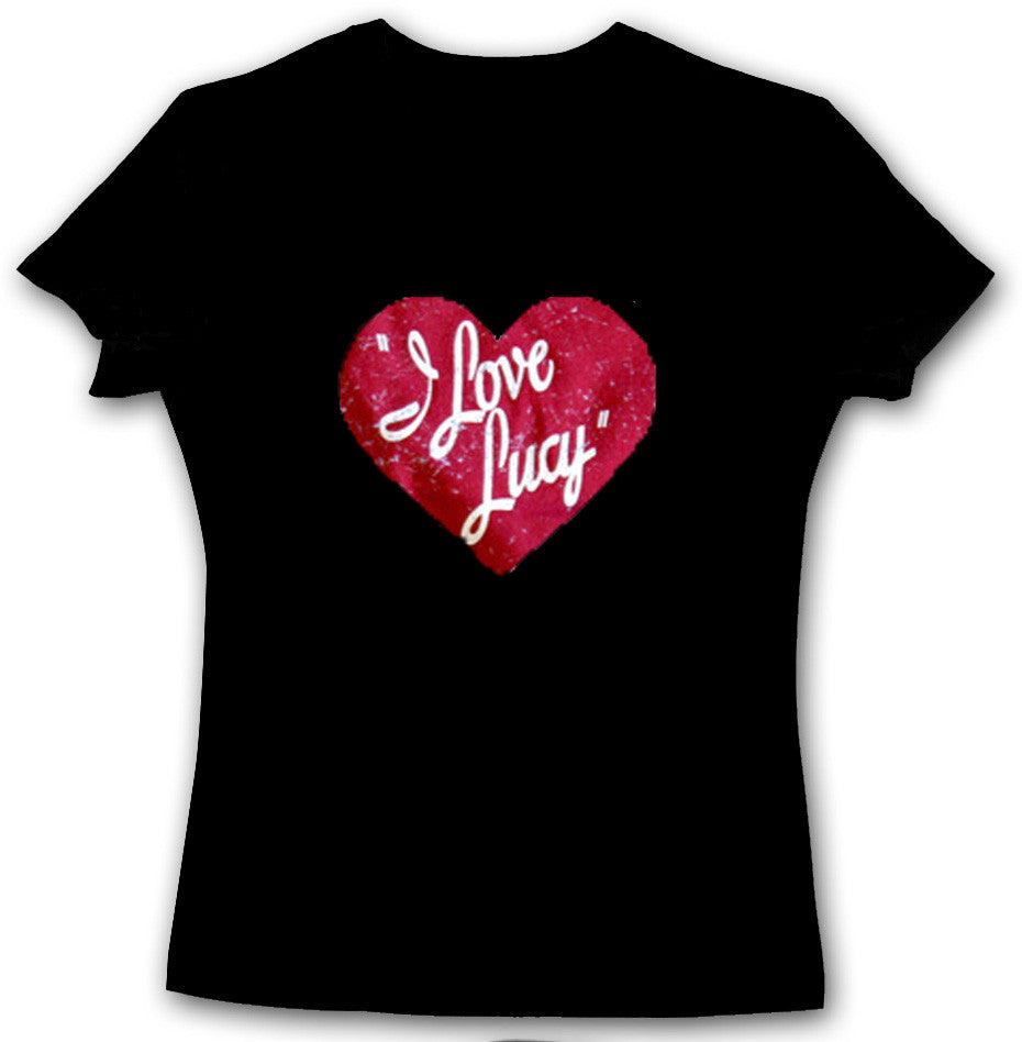 I Love Lucy Logo Black Tee