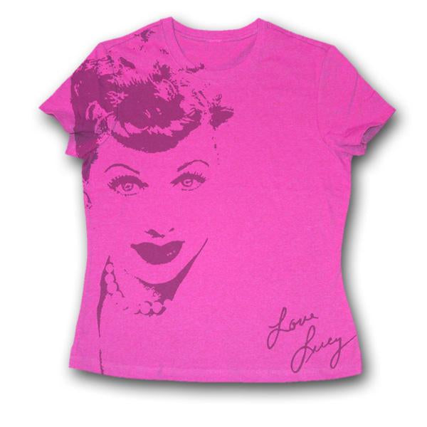 Lucille Ball Pink Junior T-Shirt