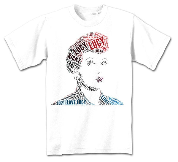 Lucille Ball Wordy T-Shirt