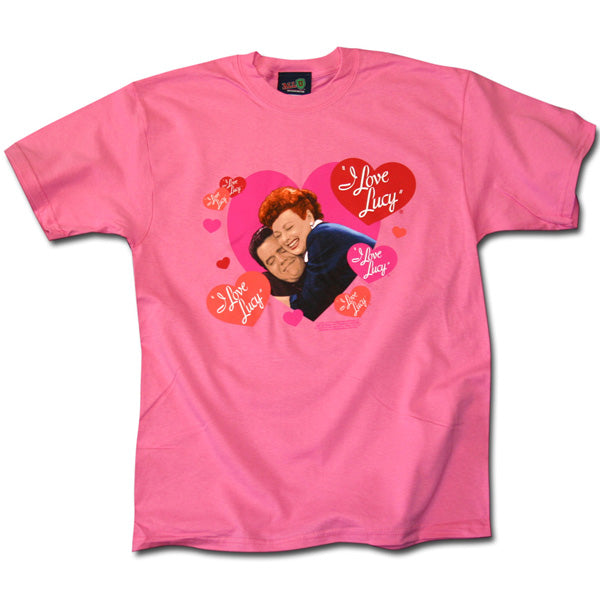 I Love Lucy Hug & Hearts Shirt