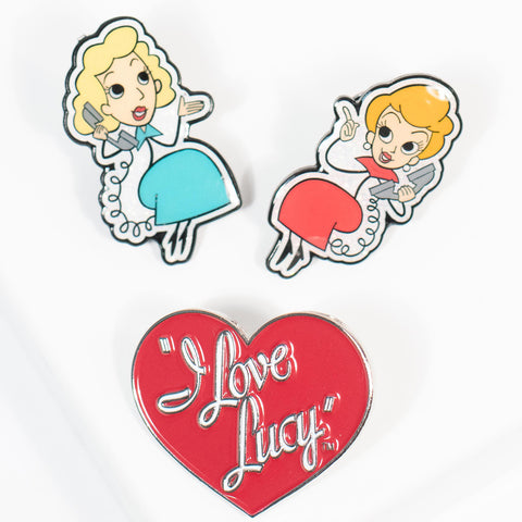 I Love Lucy x Unique Vintage: Lucy & Ethel BFF Pin 3-Pack