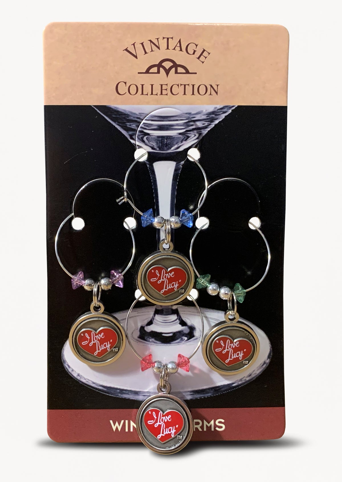 I Love Lucy Wine Charm Set