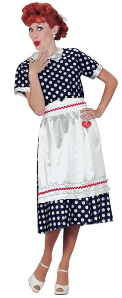 I Love Lucy: Polka Dot Dress Costume - Size Small