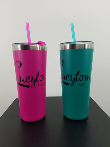 LUCYTOWN Stainless Straw Tumbler