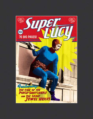 Super Lucy Framed Lithograph