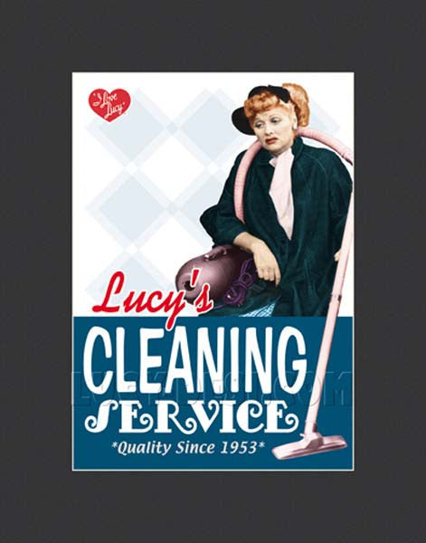 Cleaning Service Lithograph