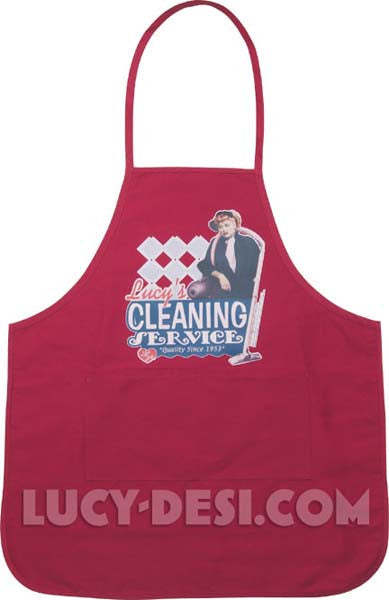 Lucy's Cleaning Service Apron