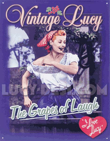 Grapes of Laugh Tin Sign