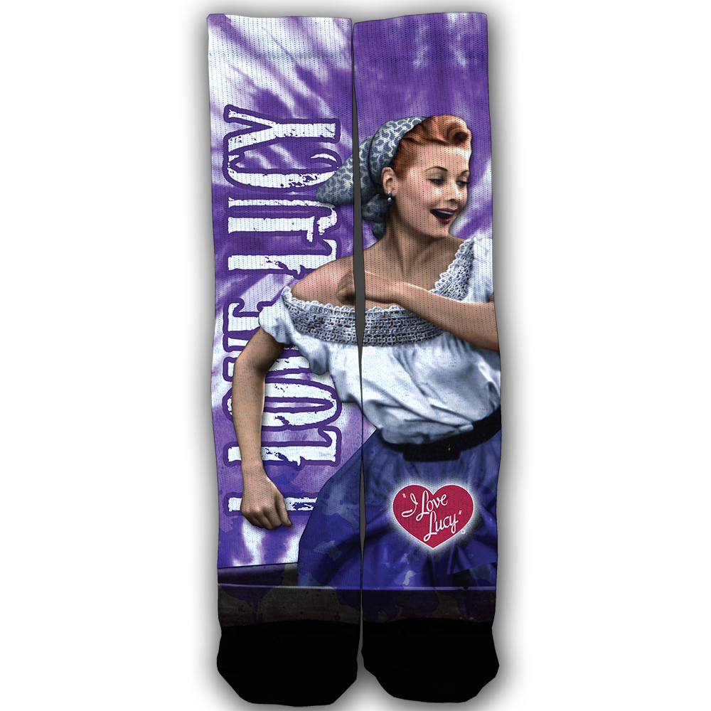 I Love Lucy: Sublimated Socks