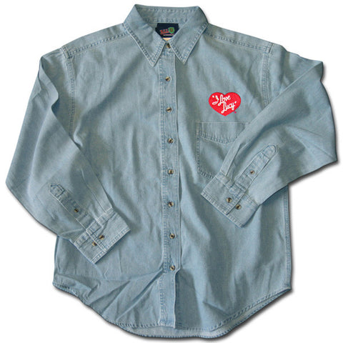 I Love Lucy Logo Denim Shirt