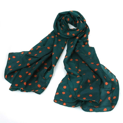 Green Dot Scarf