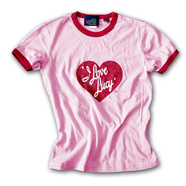 I Love Lucy Pink Logo Tee