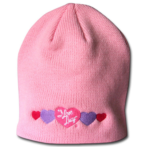 Lucy Hearts Knit Beanie