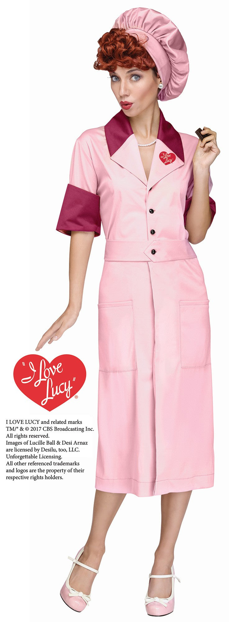 Lucyu0027s Candy Factory Costume  sc 1 st  Lucille Ball Desi Arnaz Museum & LUCY COSTUME | Lucille Ball Desi Arnaz Museum
