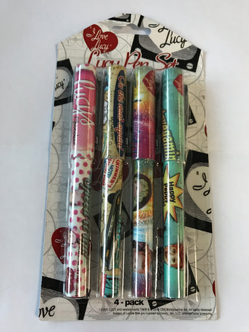 I Love Lucy: 4-Pack Pen Set