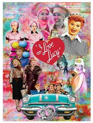 Lucy & Friends Collage Magnet