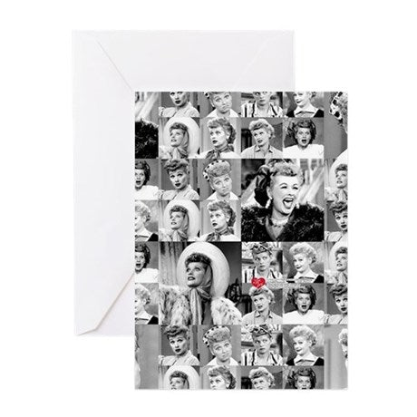 Lucy Many Faces Greeting Card