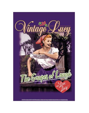 Lucy Grape Stomping Tin Sign