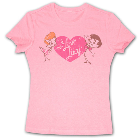 Stick Figure Pink Ladies Tee