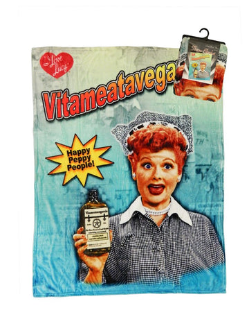 I Love Lucy: Vitameatavegamin Throw Blanket