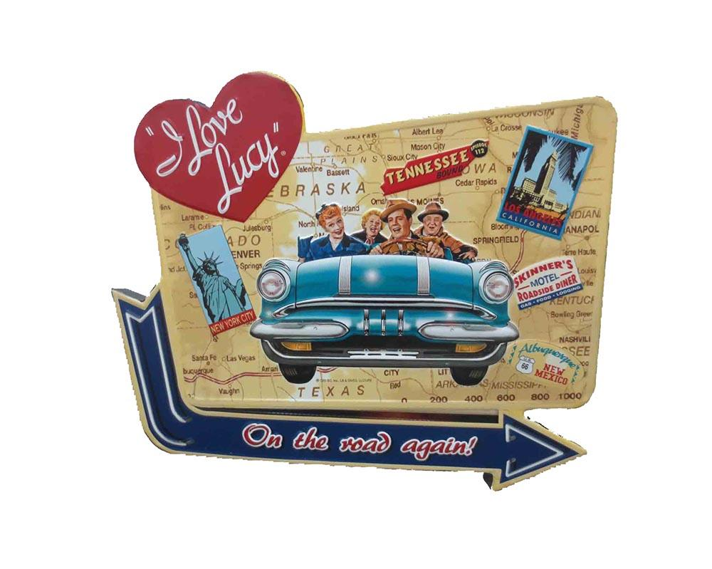 I Love Lucy Road Trip Metal Sign