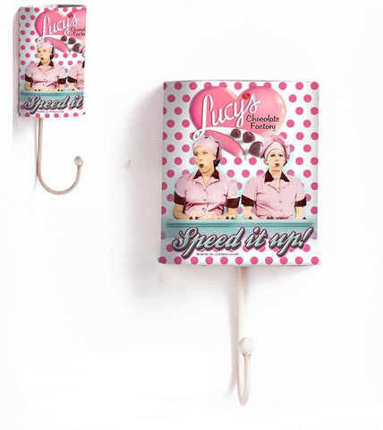 I Love Lucy Choc Polka Dot Metal Wall Hook