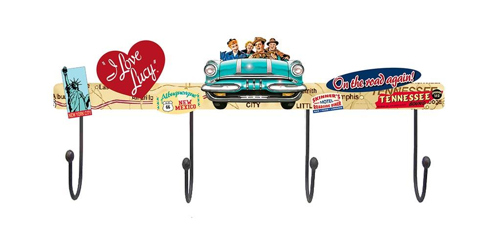 I Love Lucy Lucy Road Trip Metal Wall Hooks