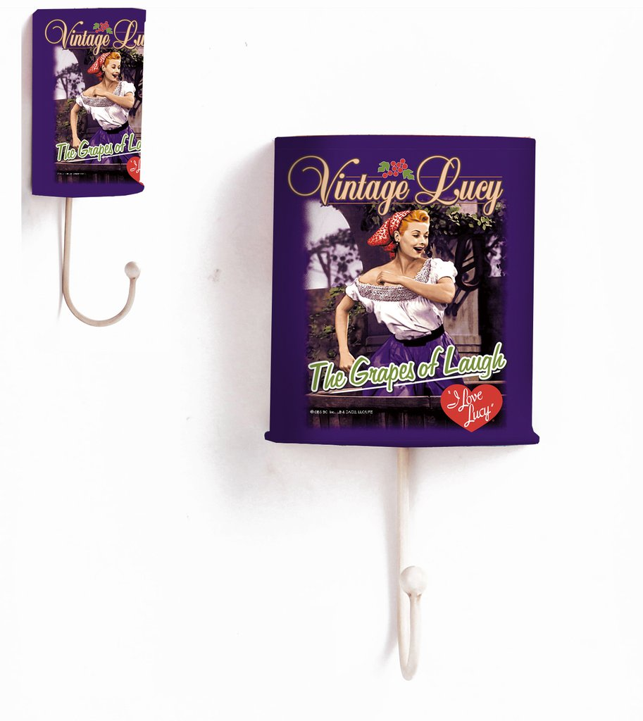 I Love Lucy Grape Stomping Metal Wall Hook