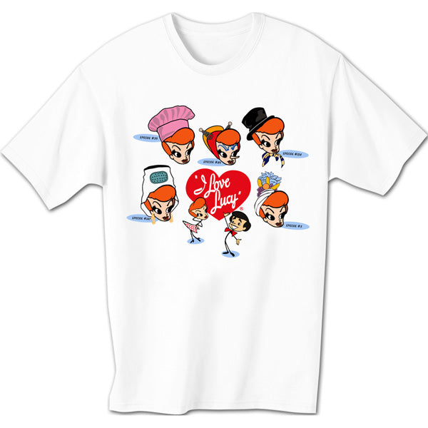 Lucy Stick Figure Faces Tee