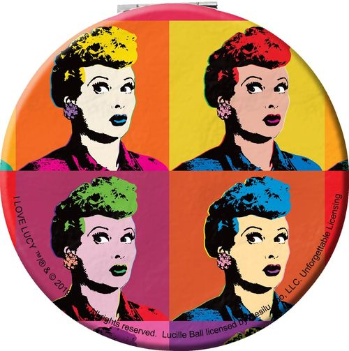 I Love Lucy Lucille Ball SMILE 2-Sided Sublimated All Over Print Poly T-Shirt
