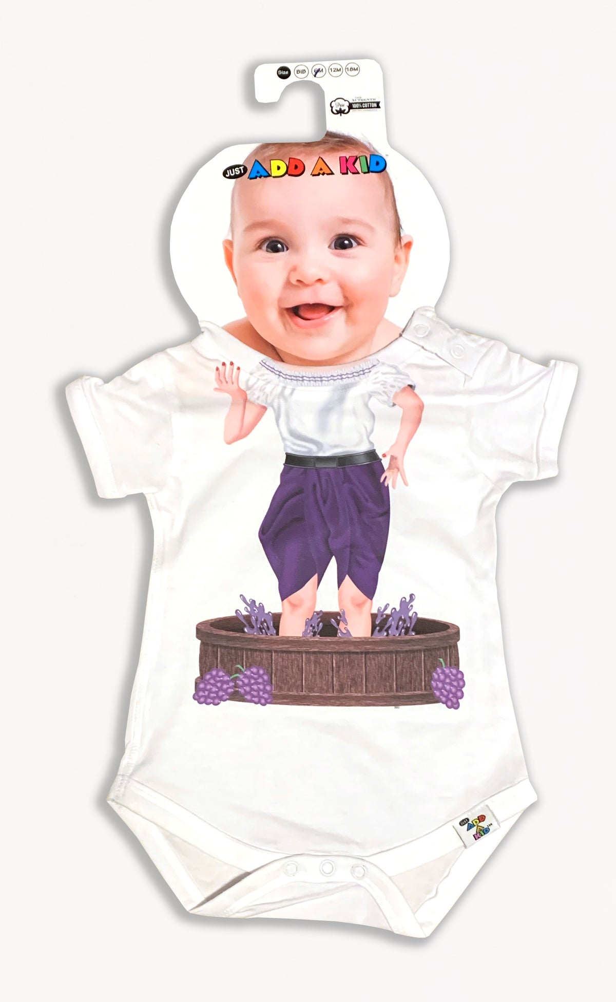 Just Add a Kid Lucy Grape Onesie
