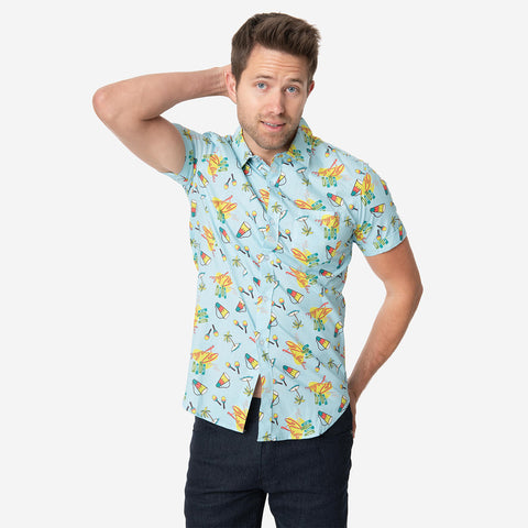 I Love Lucy - Ricky Ricardo's Club Babalu Mens Button-Up Shirt