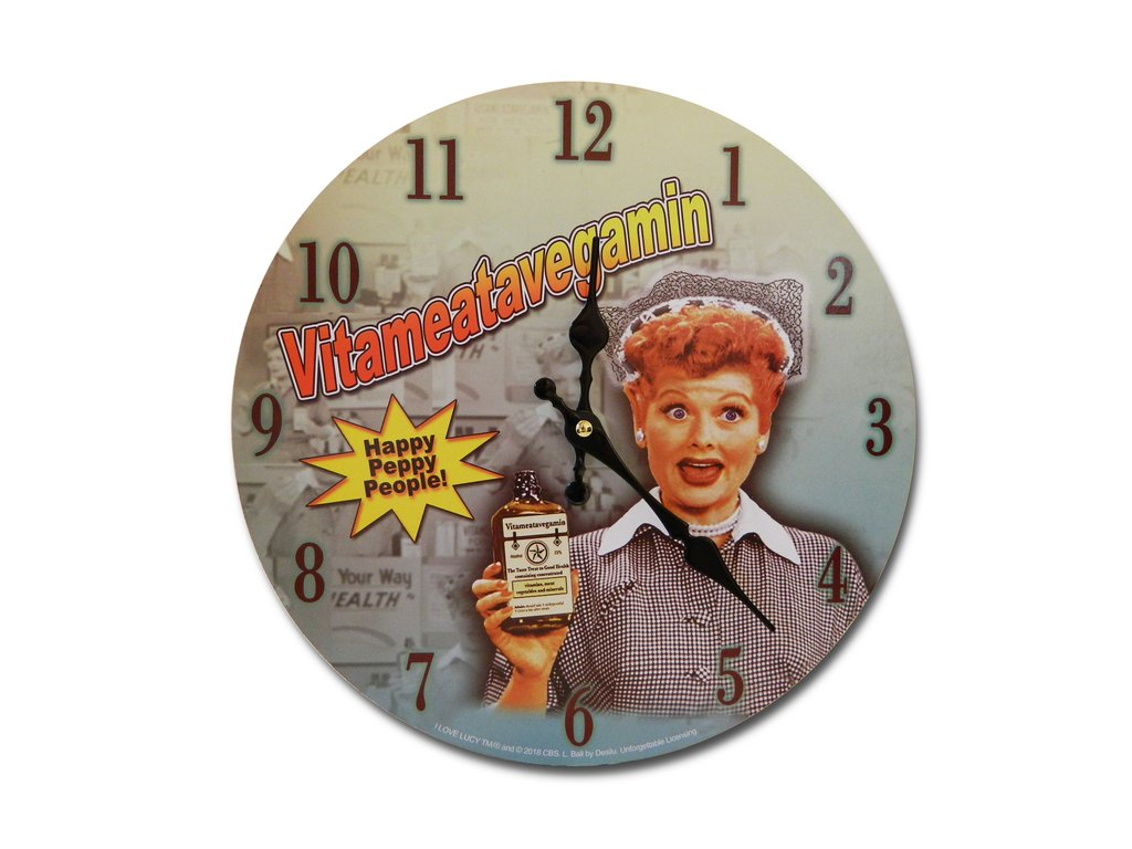 I Love Lucy Vita Peppy People Clock