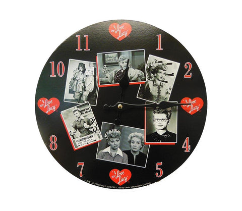 Lucy Black & White Photo Clock
