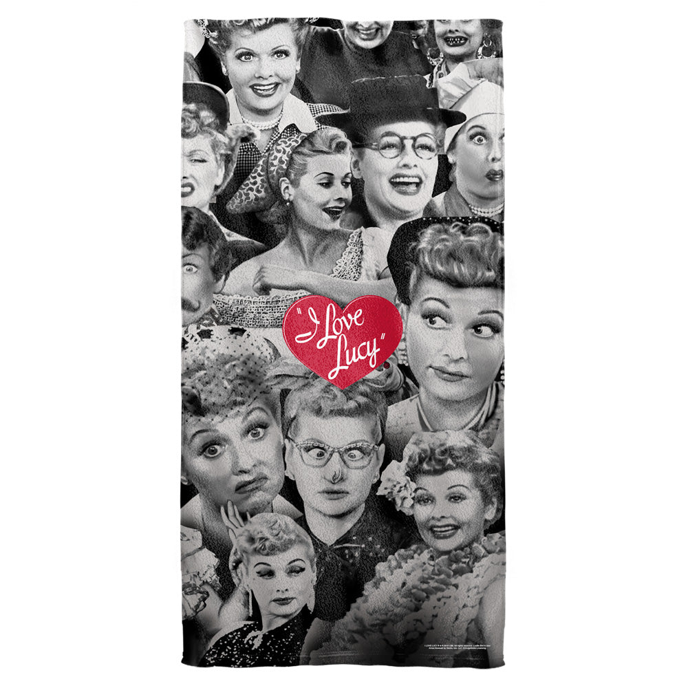 I Love Lucy: Faces Towel