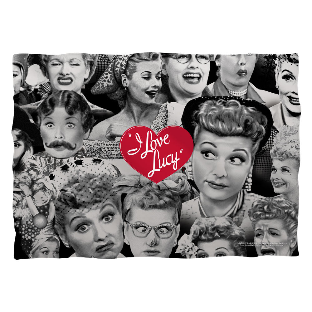 I Love Lucy: Faces Pillow Case
