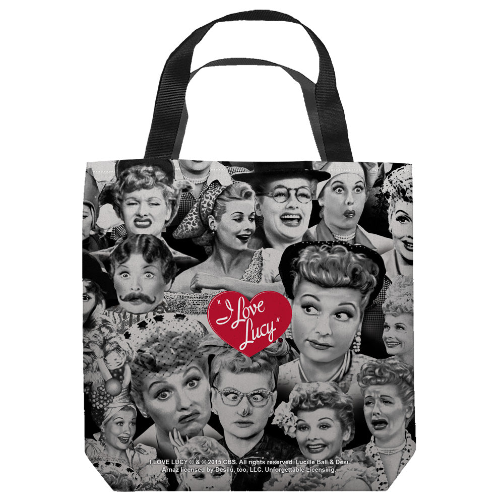I Love Lucy: Faces Tote Bag