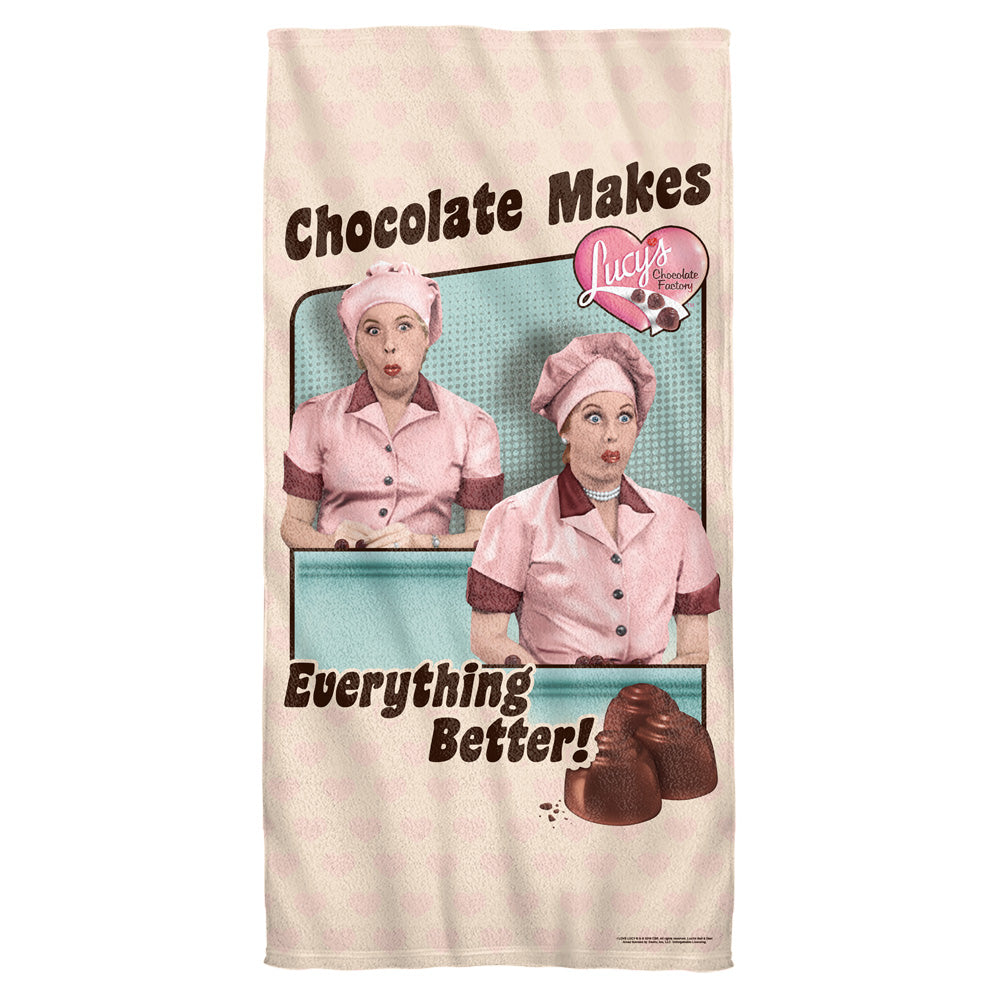 I Love Lucy: Friends & Chocolate Towel