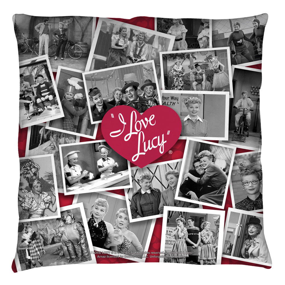 I Love Lucy: Time After Time Throw Pillow