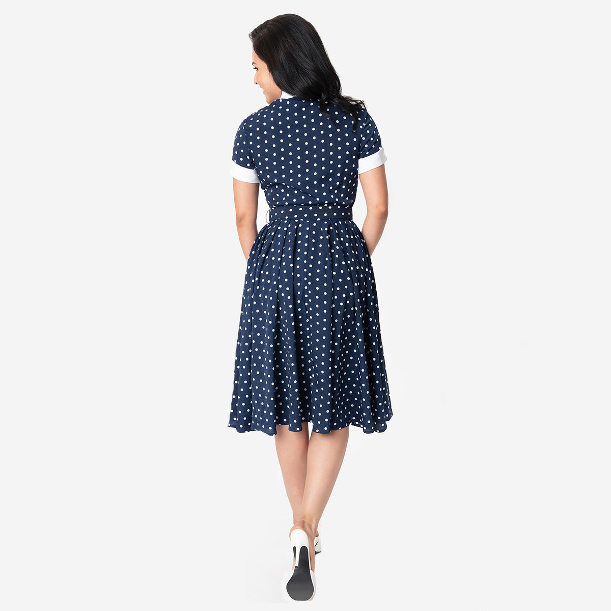 I Love Lucy x Unique Vintage: The Ricardo Polka Dot Swing Dress