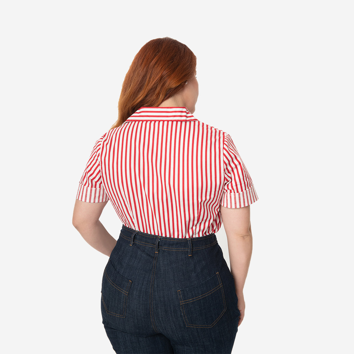 I Love Lucy x Unique Vintage: The Little Ricky Striped Blouse (Plus Sizing)