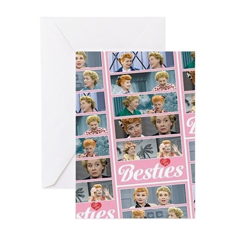 I Love Lucy Besties Pattern Greeting Card