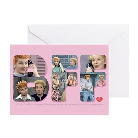 I Love Lucy BFF Greeting Card