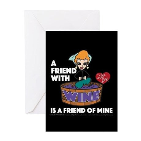 I Love Lucy: Lucy Wine & Friends Greeting Card