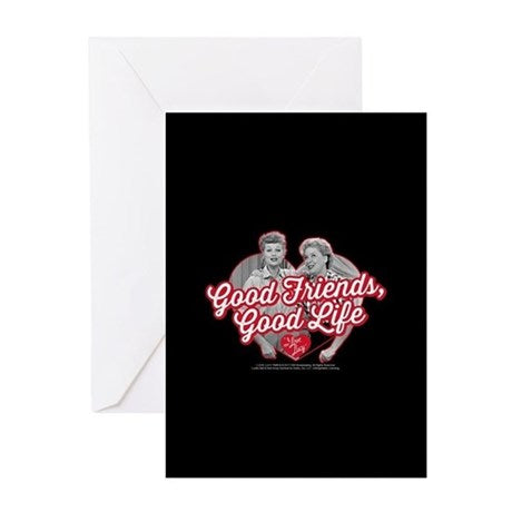 I Love Lucy: L&E Good Friends/Life Greeting Card
