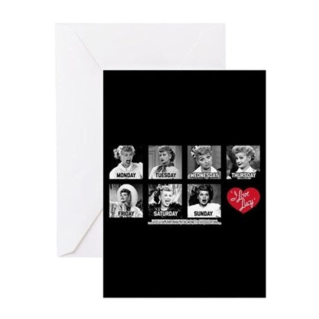 I Love Lucy: Lucy Days of the Week Greeting Card