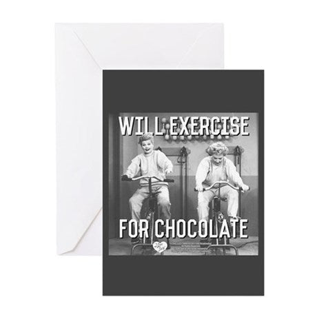 I Love Lucy: L&E Exercise for Choc. Greeting Card